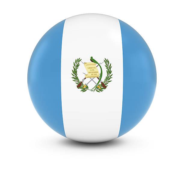 Bandera de Guatemala Ball-bandera de Guatemala en materia de aislados - foto de stock