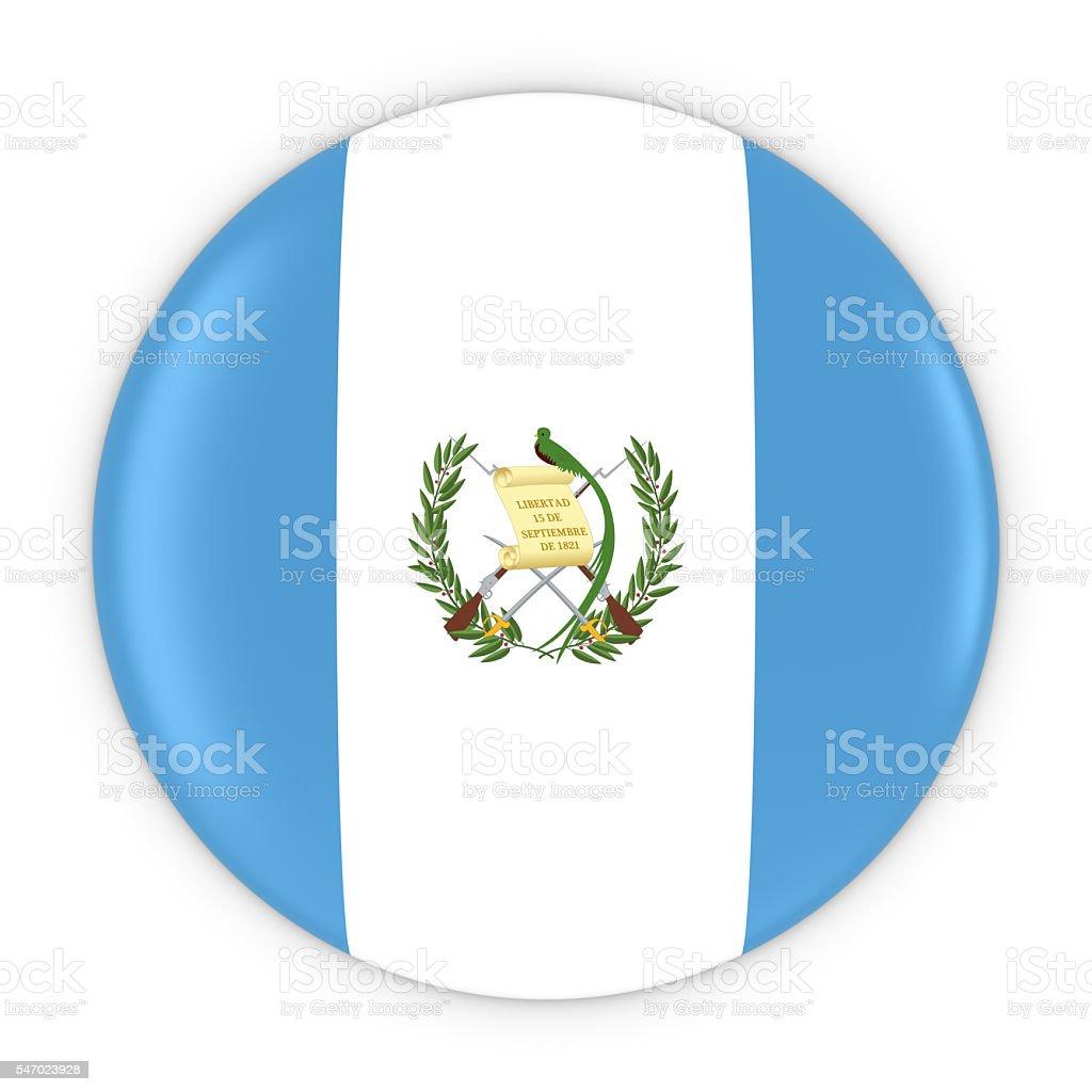 Guatemalan Flag Button - Flag of Guatemala Badge 3D Illustration - foto de stock