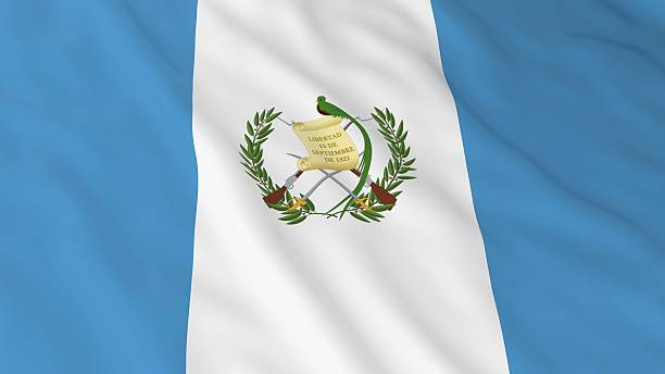 Guatemalan Flag HD Background - Flag of Guatemala 3D Illustration - foto de stock