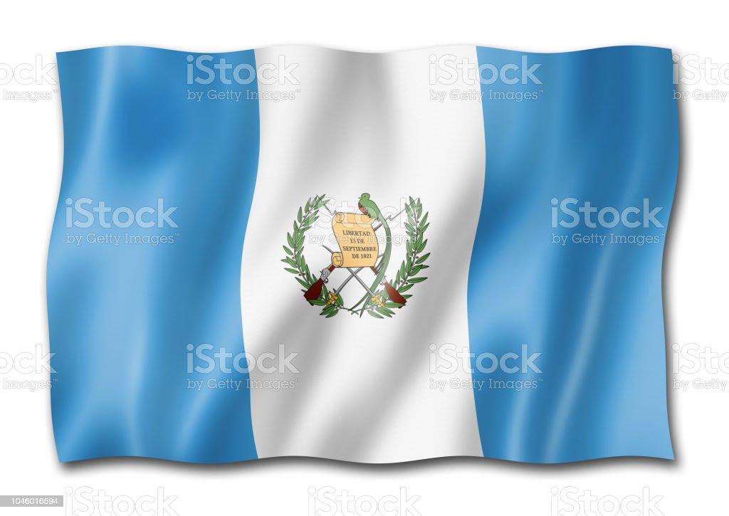 Bandera Guatemala aislado en blanco - foto de stock