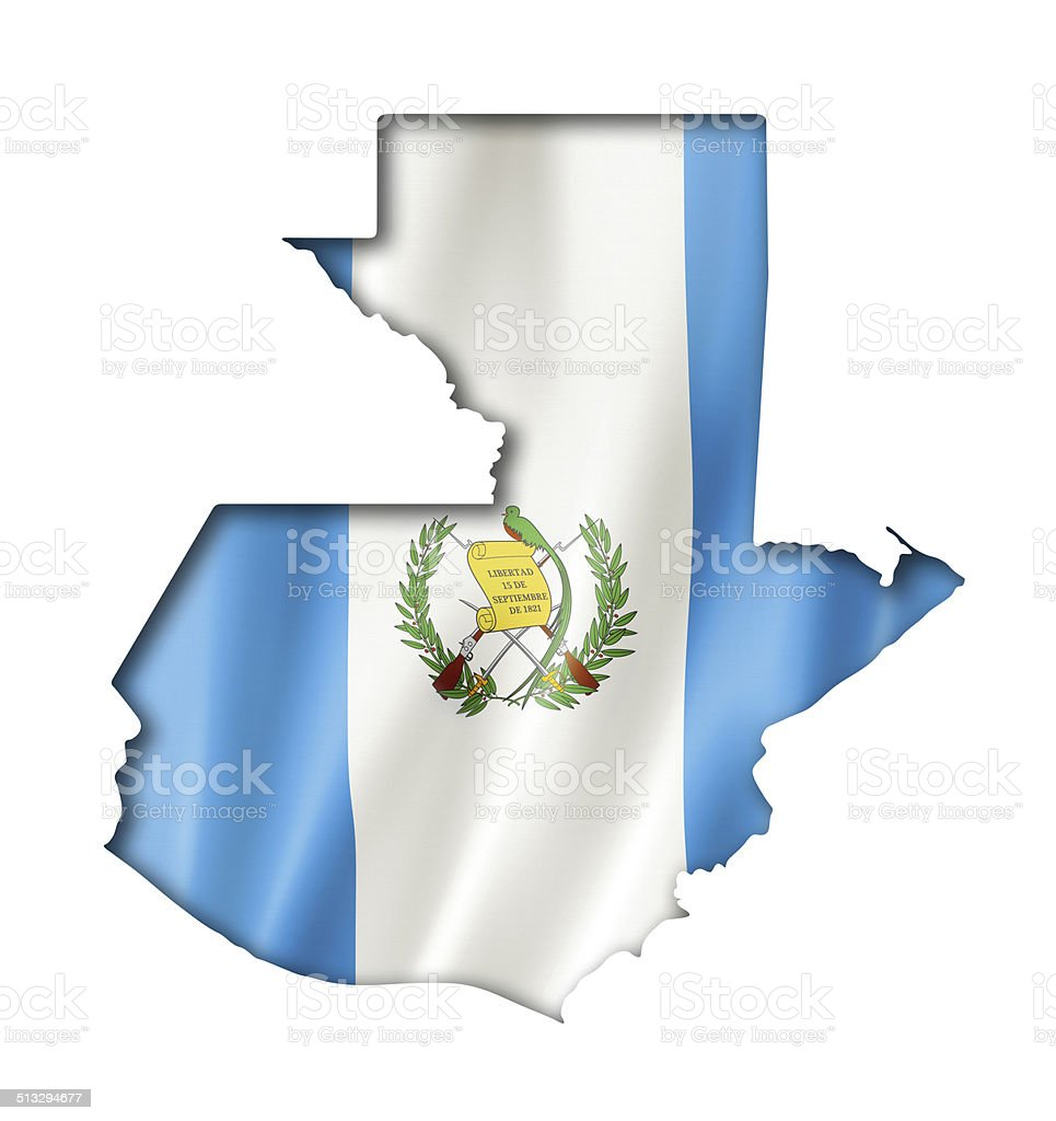 Mapa bandera de guatemala - foto de stock