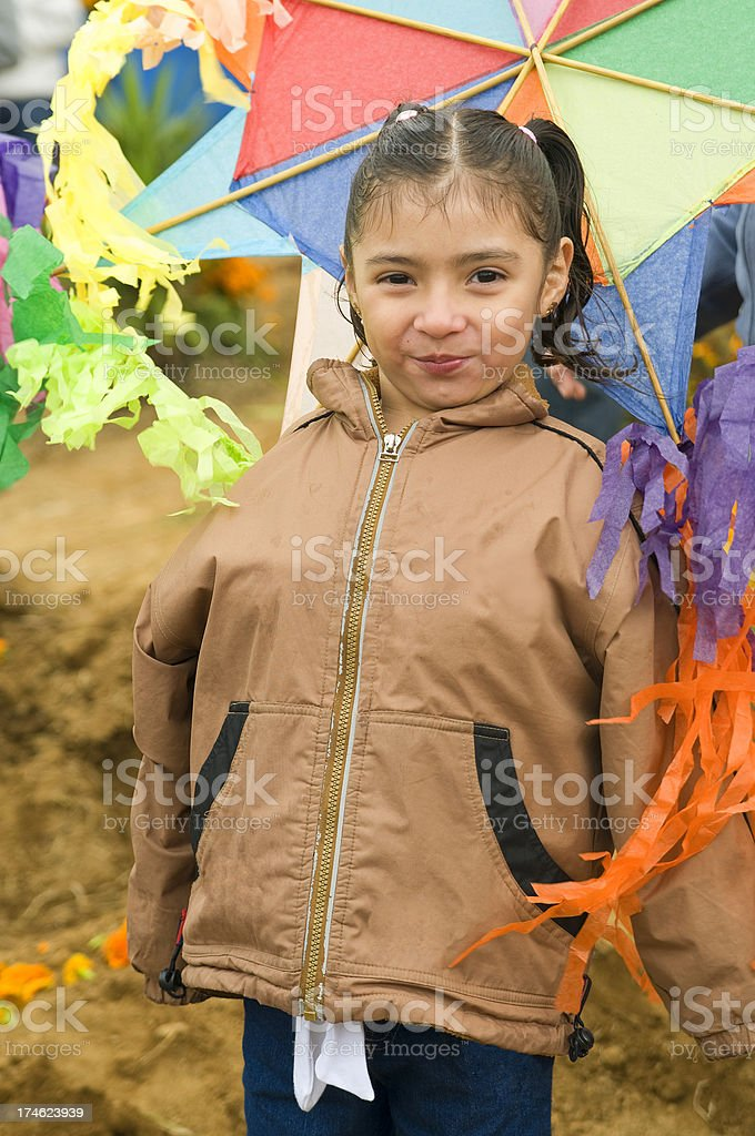 Guatemalan girl with Kite stock photo