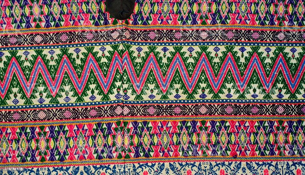 Guatemalan Hand woven textile stock photo