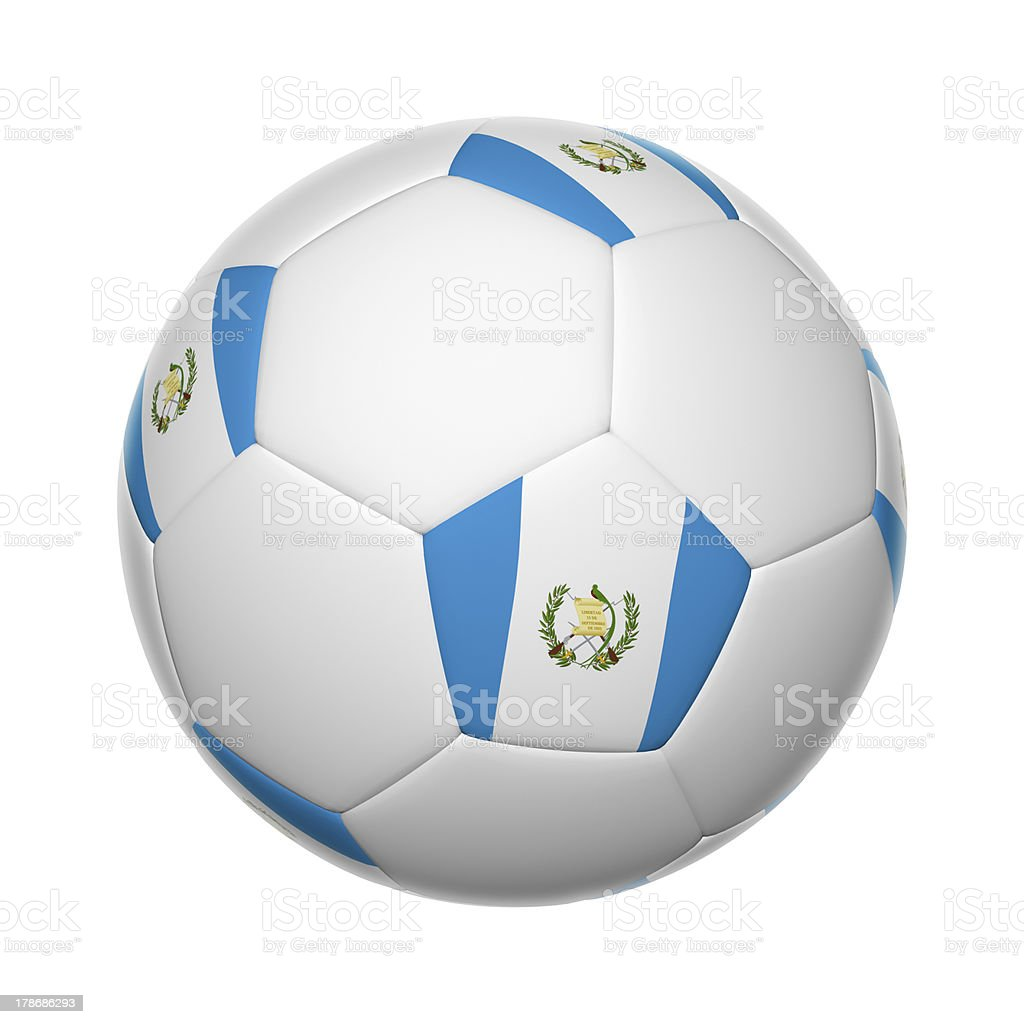 Guatemalan soccer ball stock photo