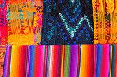 Guatemalan textile detail background