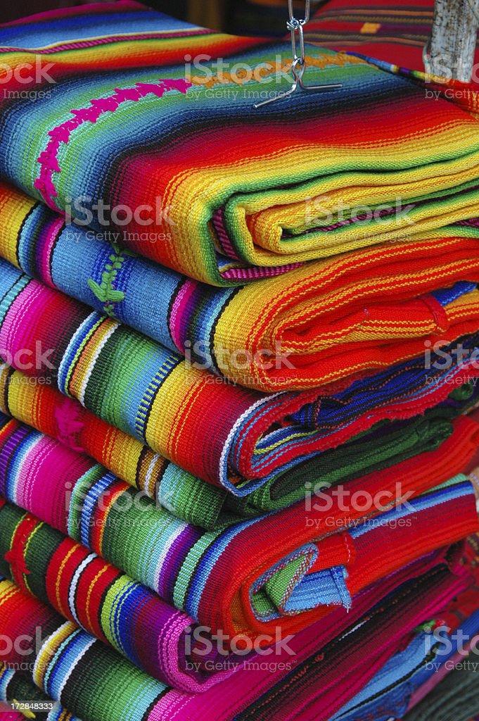 Guatemalan textiles royalty-free stock photo