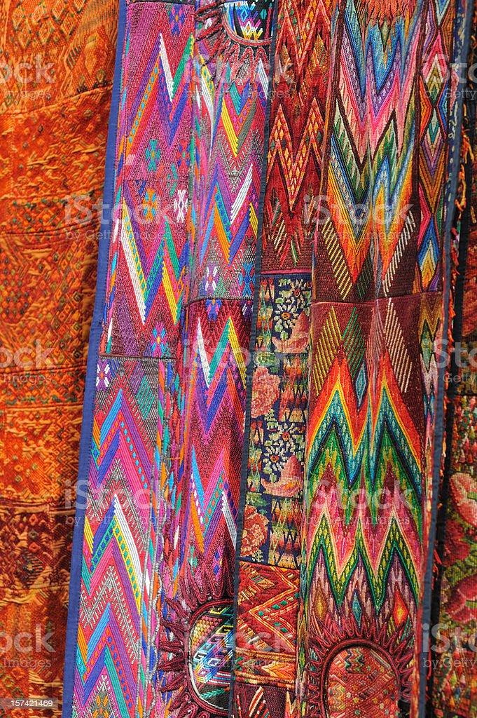 Guatemalan textitles stock photo