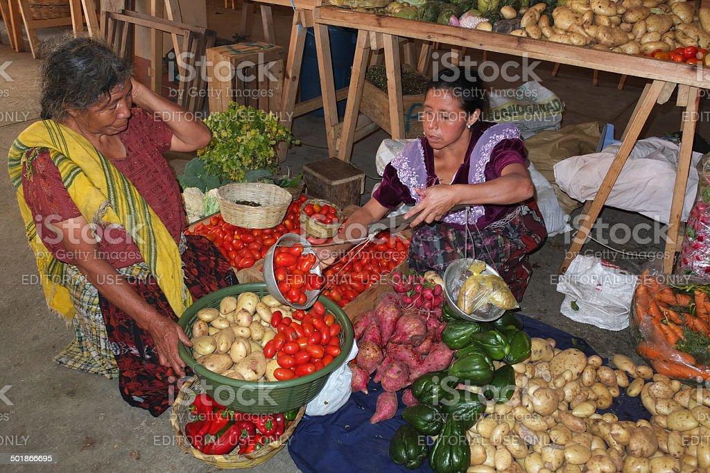 Guatemalan vendor. royalty-free stock photo