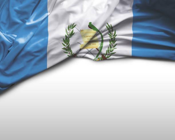 Bandera que agita Guatemala - foto de stock