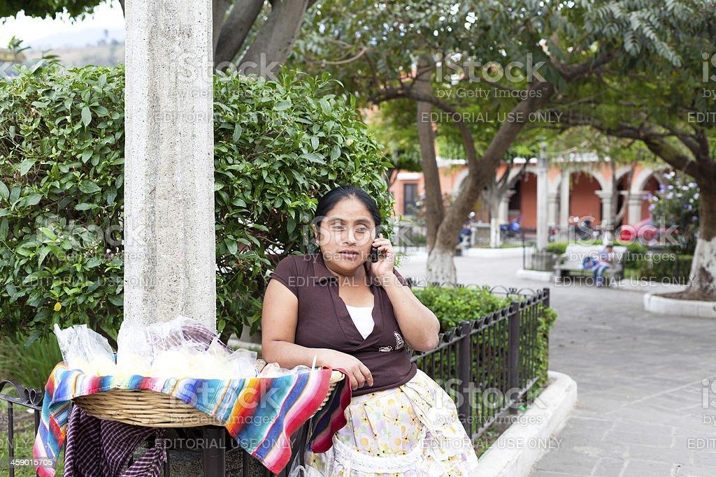 Guatemalan Woman stock photo