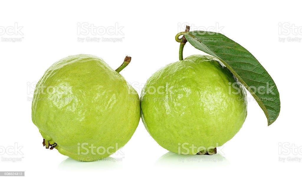 Guava fruit isolated on the white background stock photo