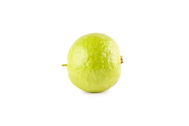 Guava-Frucht auf weißem Hintergrund Obst Landwirtschaft Lebensmittel isoliert – Foto