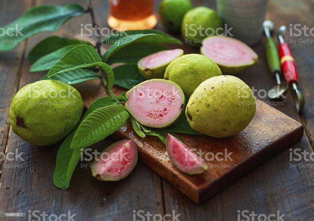 guava fruits stock photo