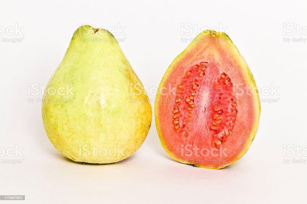 Guava - Guayava fruit halves stock photo