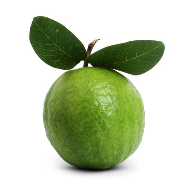 Guava isolated on white background stock photo