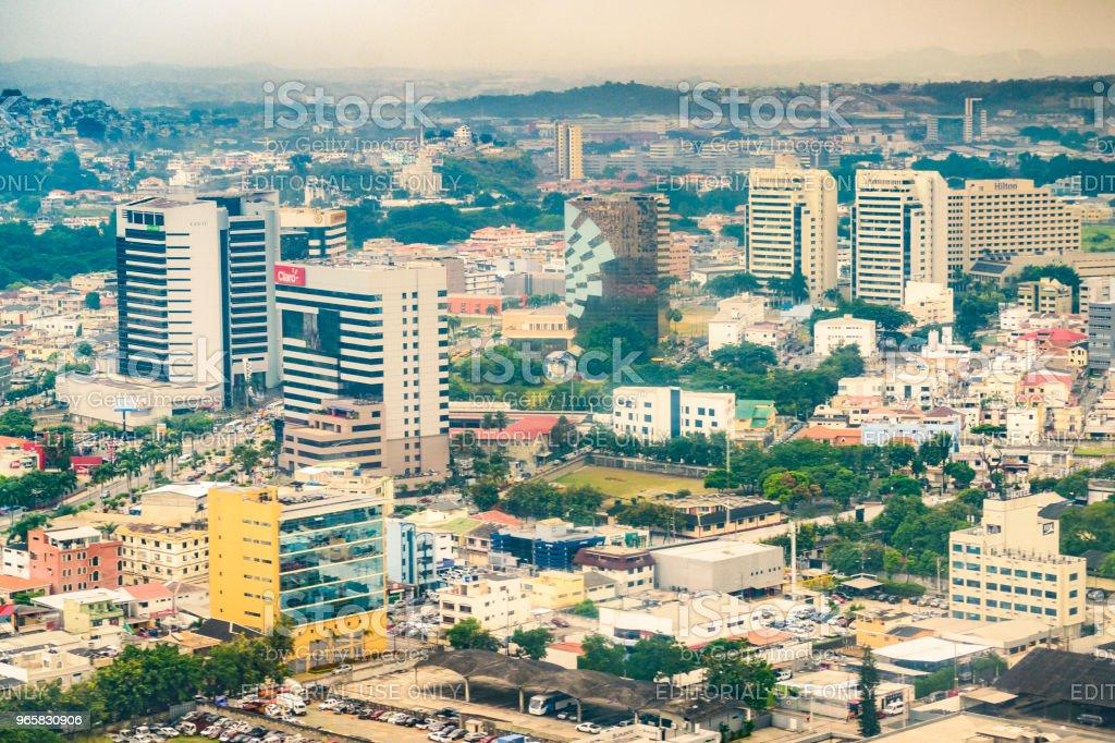 Luchtfoto van Guayaquil stad - Royalty-free Architectuur Stockfoto