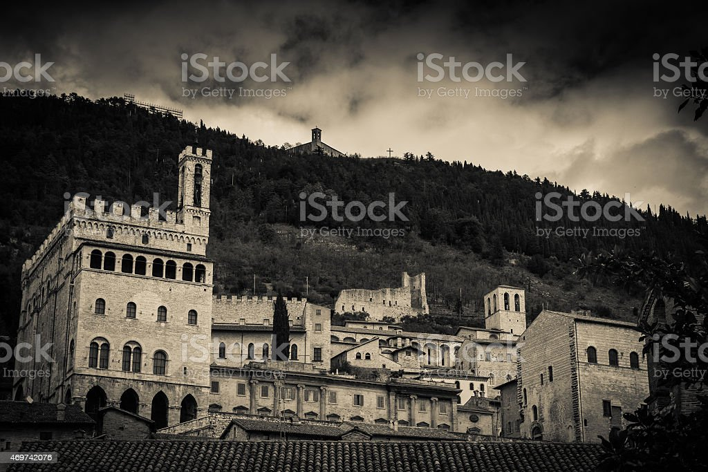 Gubbio - Black and White stock photo