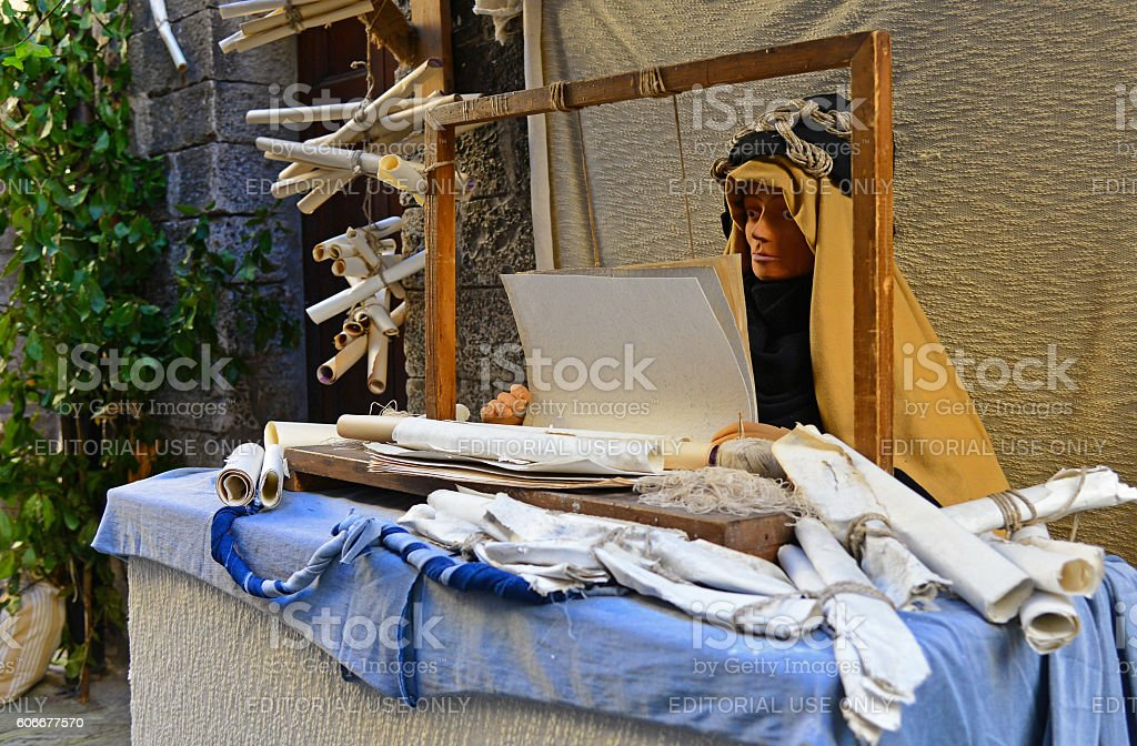 Gubbio (Italy), during the Christmas holidays stock photo