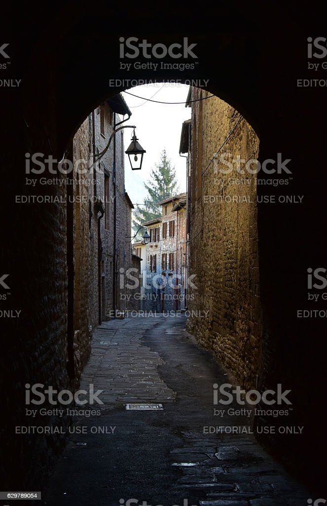 Gubbio (Umbria, Italy) stock photo