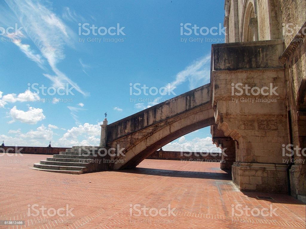 gubbio - stairs of the entrance of the town hall stock photo