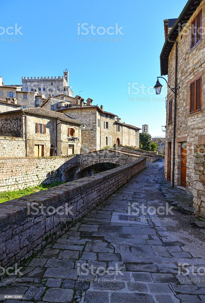 Gubbio (Italy) - The most beautiful medieval towns in Europe stock photo