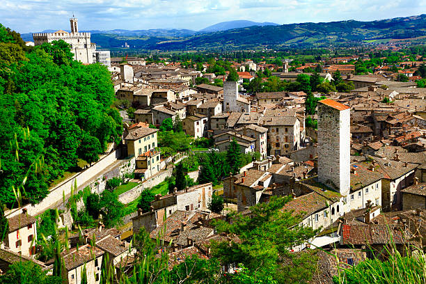 Gubbio,Italy Medieval town in Umbria umbria stock pictures, royalty-free photos & images
