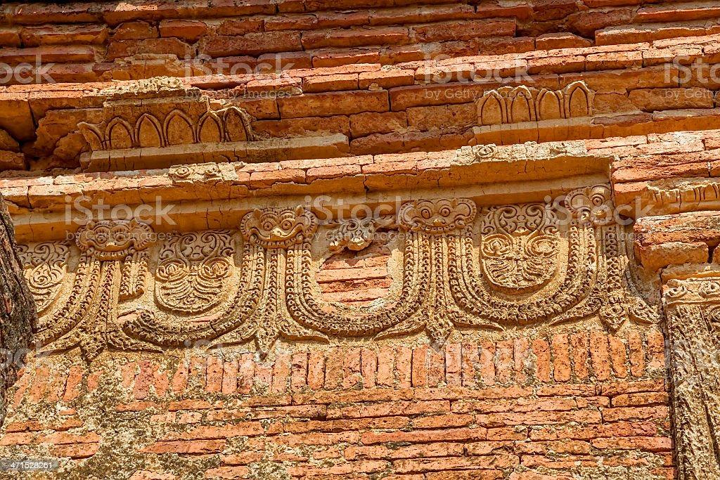 Gubyaukgyi Temple Bagan royalty-free stock photo