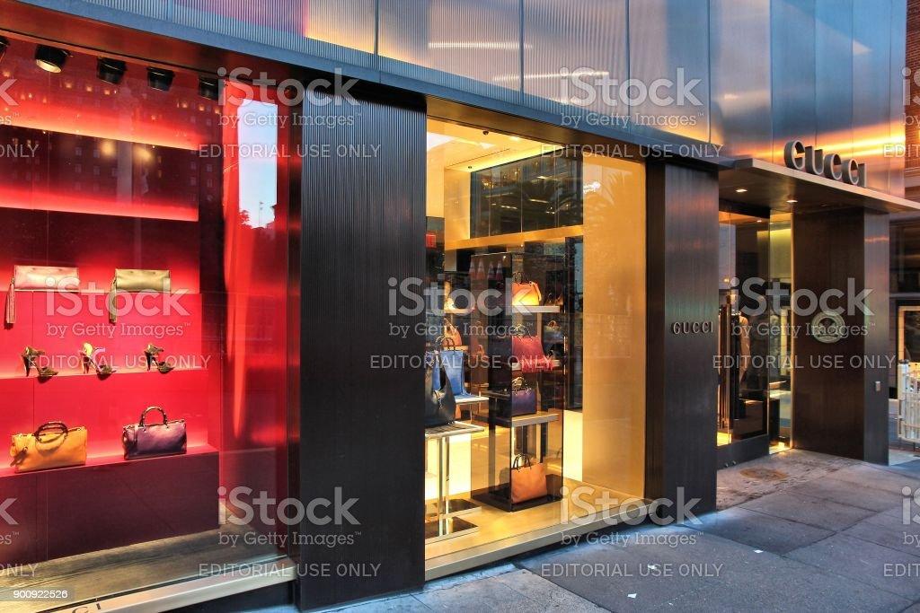 e415817b7a5 Gucci fashion royalty-free stock photo. San Francisco  Gucci fashion store  ...