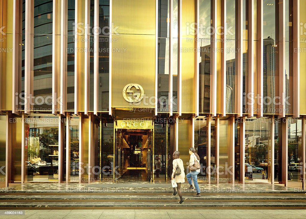 Gucci flagship store in  Shanghai China stock photo