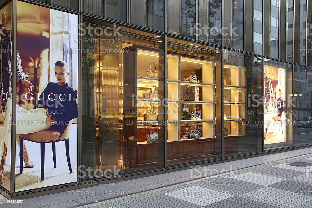 Gucci in Japan stock photo