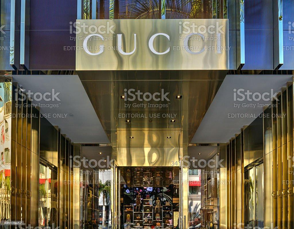 Gucci Retail Store Exterior stock photo