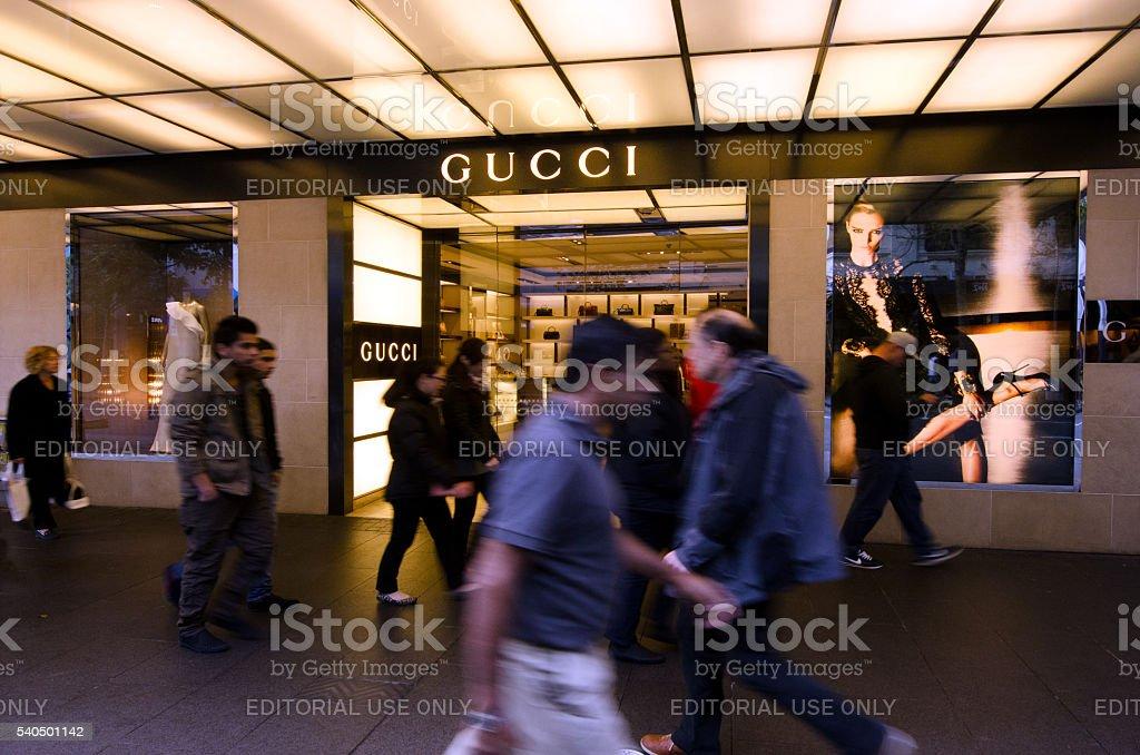 Gucci Shop stock photo