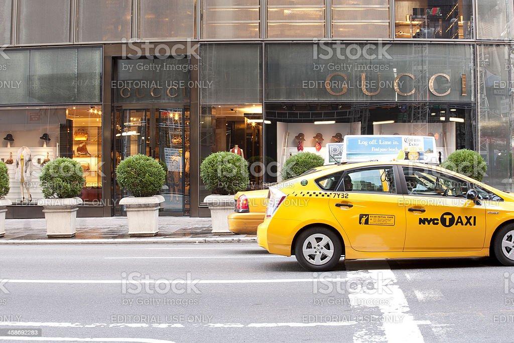 Gucci Store 5th Avenue stock photo