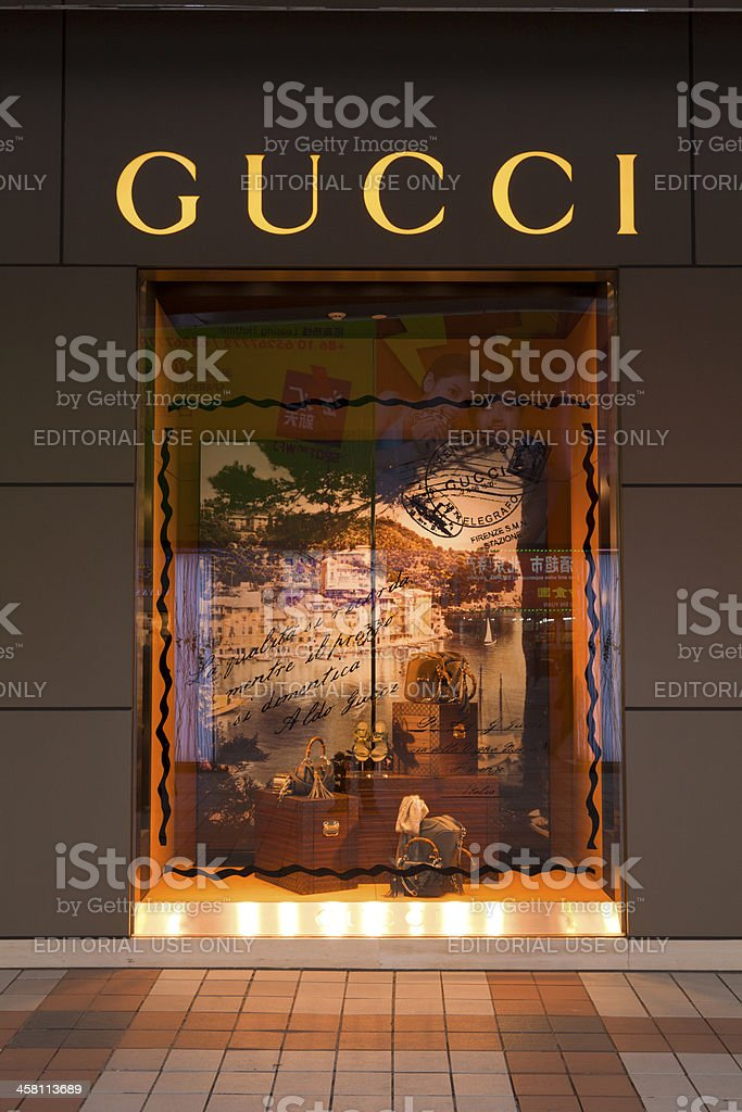 Gucci Store Beijing China stock photo