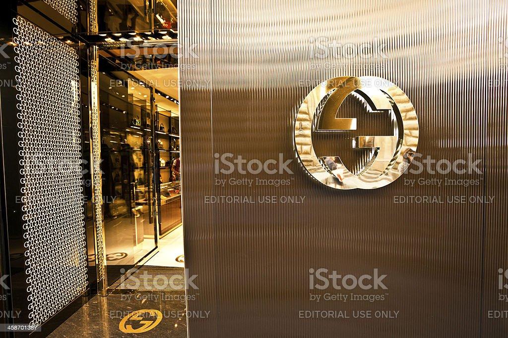 Gucci Store in Florence, Italian Fashion stock photo