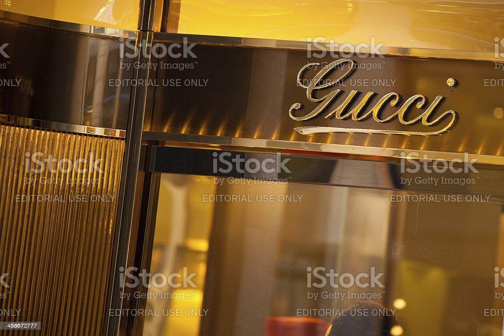 Gucci Store in Via Condotti, Rome stock photo