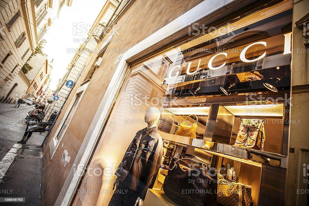 Gucci store in Via Frattina, Rome stock photo