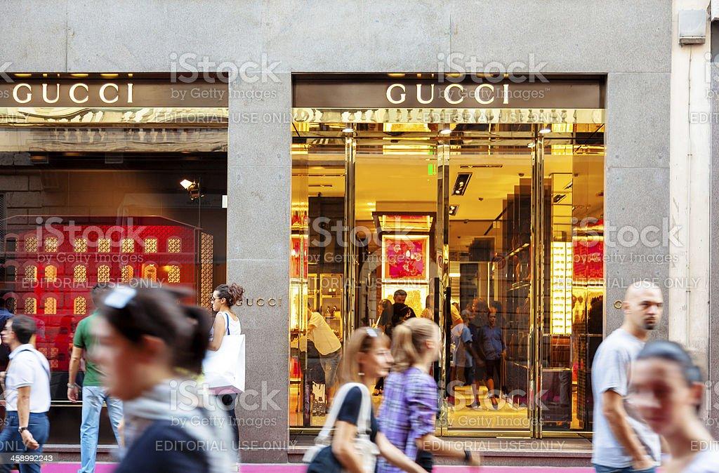 Gucci Store - Milan, Italy royalty-free stock photo
