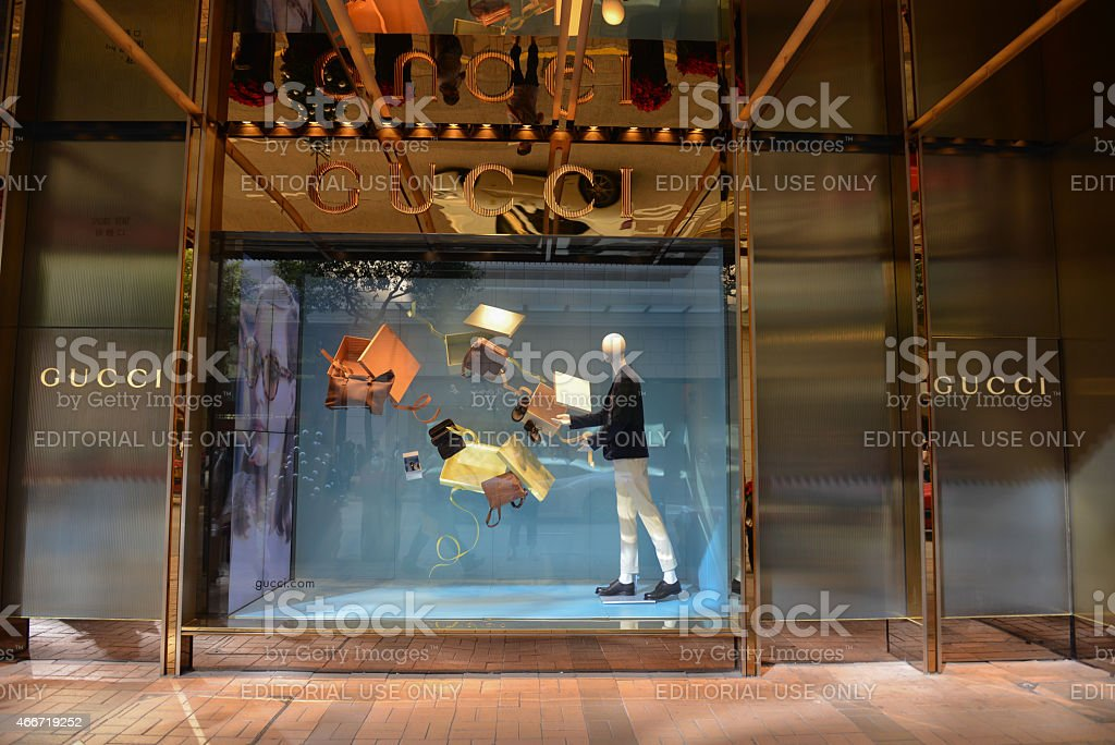 Gucci store on the Canton Road, Tsim Sha Tsui stock photo