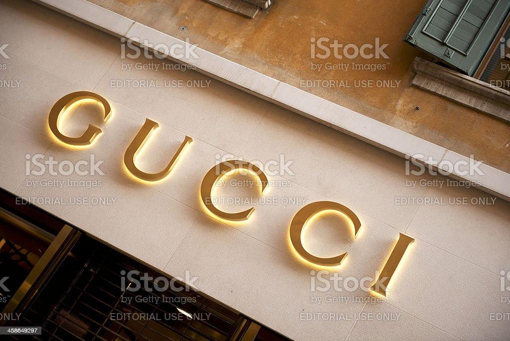 Gucci Store stock photo
