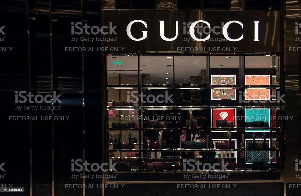 Gucci magasin  photo libre de droits