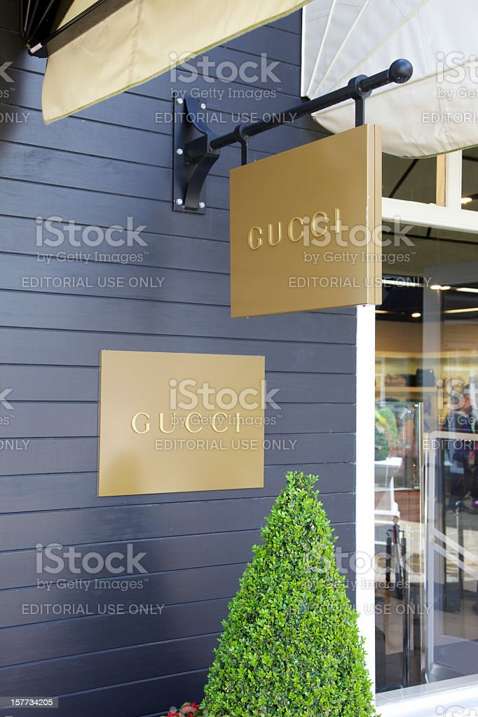 Gucci Store Signs... royalty-free stock photo