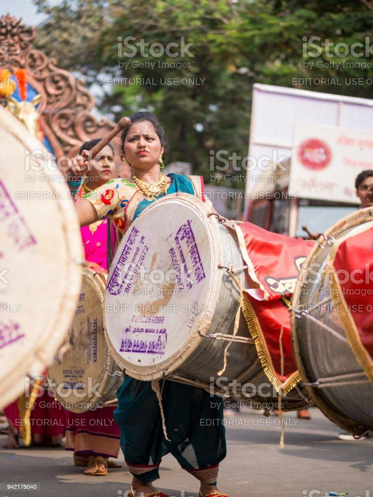 Gudi Padva Parade stock photo