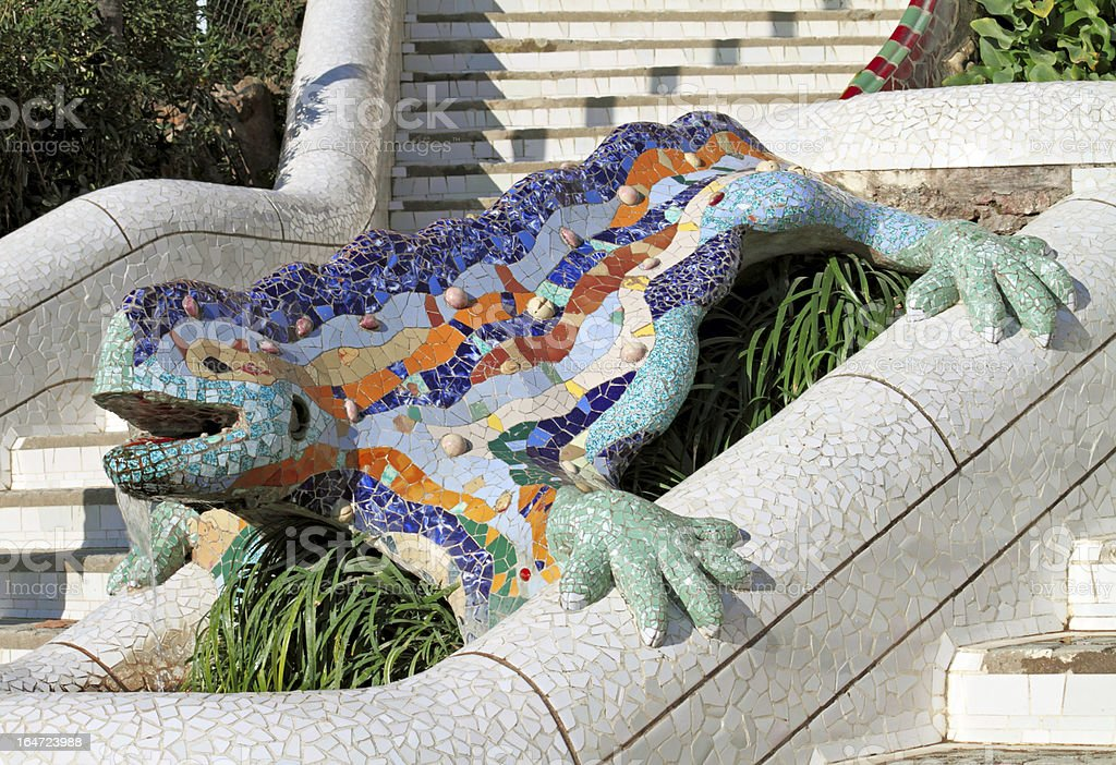 Parc Guell Lizard, Barcelona royalty-free stock photo