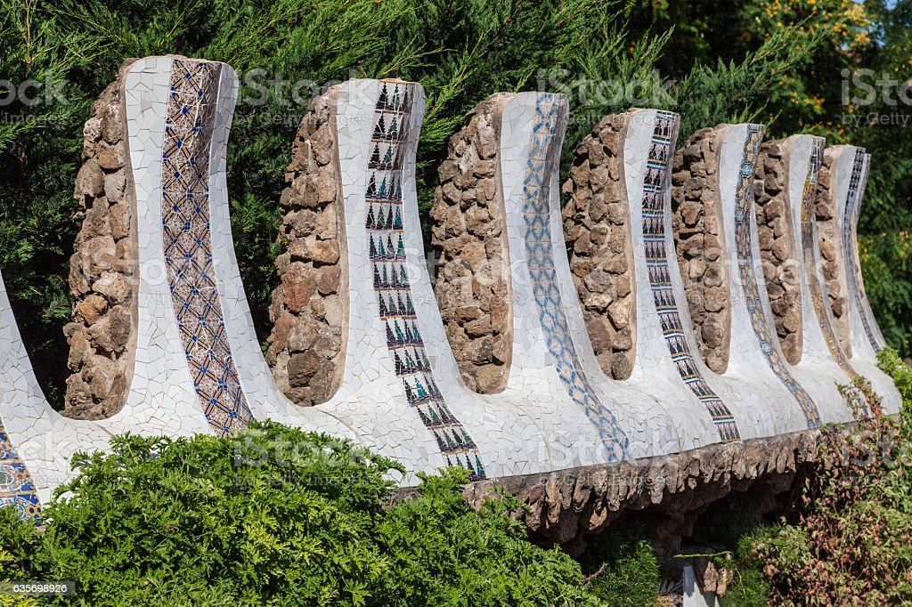 Guell Park Barcelona Catalunia Spain royalty-free stock photo