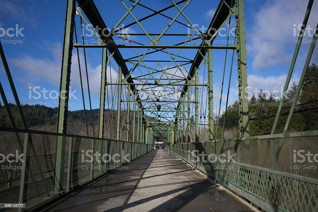 Guerneville bridge stock photo