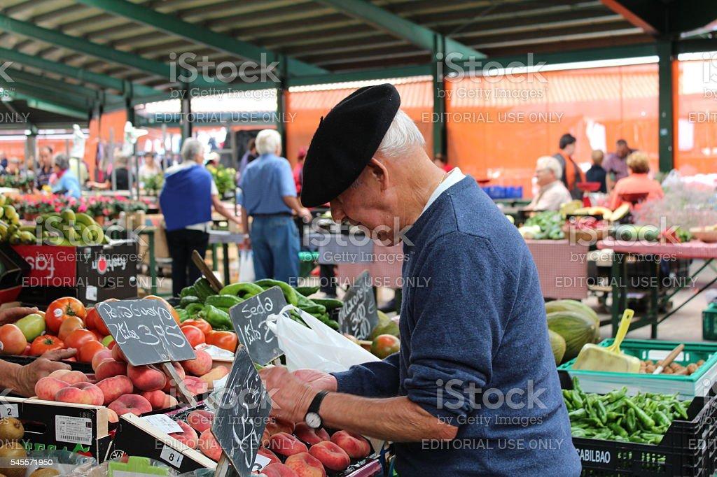Guernica market stock photo