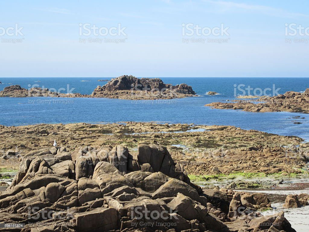 Guernsey beach stock photo