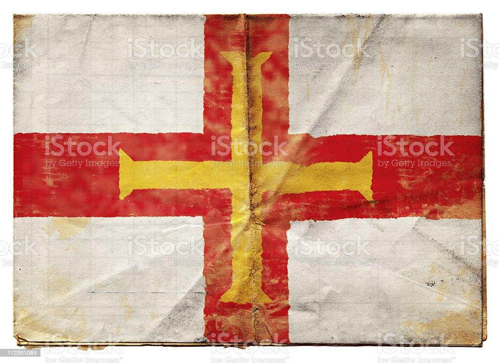 Bandera (XXL) Guernsey foto de stock libre de derechos