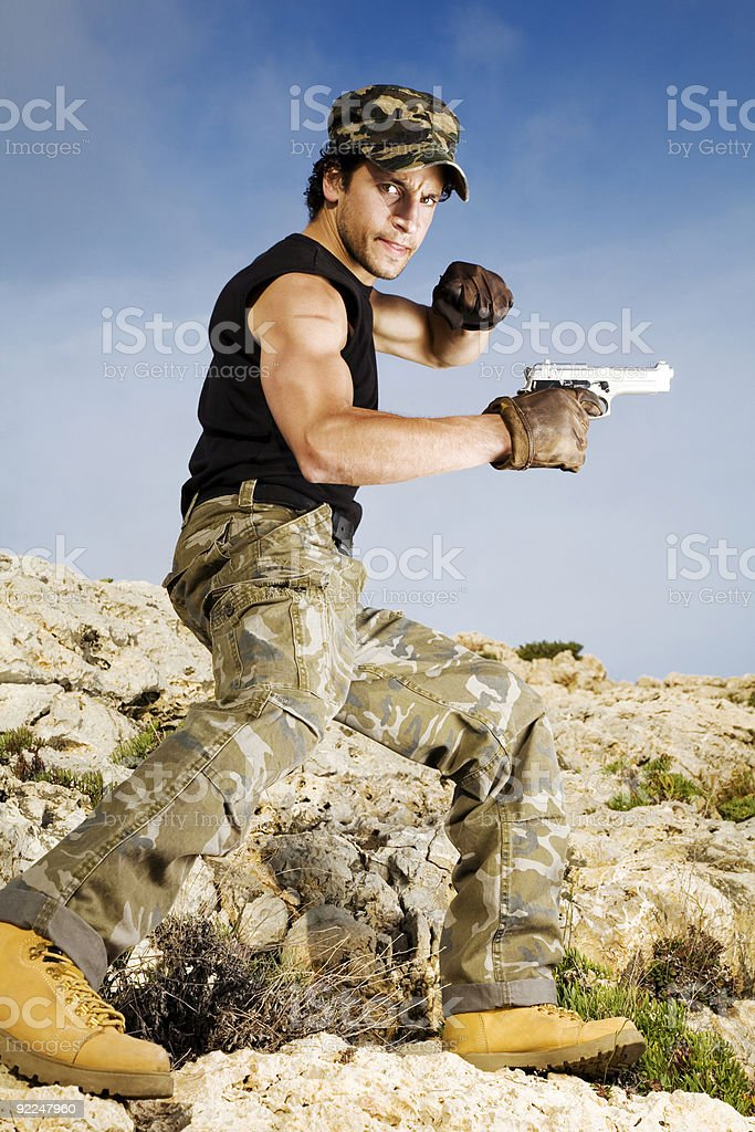 Guerrilla fighter royalty-free stock photo